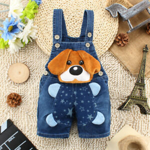 12cba43a5718 Image is loading Summer-Toddler-Infant-Boys-Girls-Jeans-Overalls-Kids-