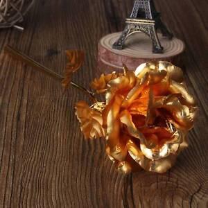 goldene rose 24 karat vergoldet geburtstag valentinstag. Black Bedroom Furniture Sets. Home Design Ideas
