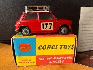 Corgi-339-Bmc-Mini-Cooper-S-Rallye-Monte-Carlo-In-Late-Issue-Plain-Box