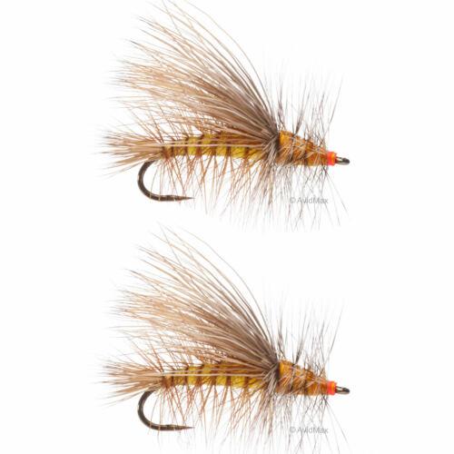 Umpqua Stimulator Kaufmann Barbless Yellow 2 Pack Dry Fly Fishing Flies