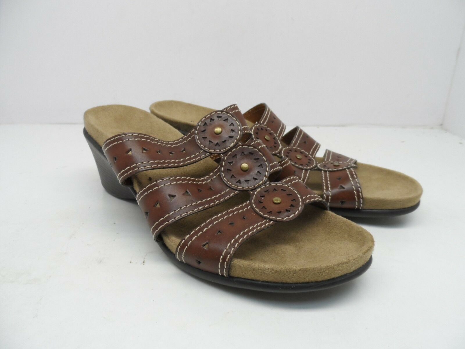 Axxiom Women's Amber 6M Wedge Sandal Brown Size 6M Amber 12721d