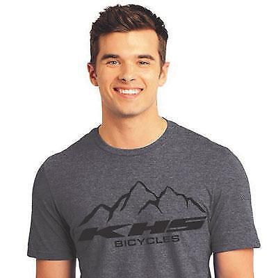 KHS Bicycles Mountain T-Shirt Soft Cotton Grey Medium Bike