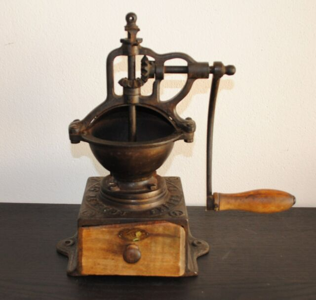 ANTIQUE FRENCH CAST-IRON COFFEE GRINDER MILL PEUGEOT # 0A