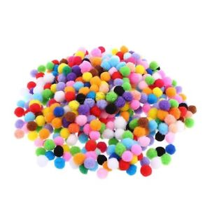 LOT-de-100-POMPONS-BOULES-MULTICOLORES-acrylique-10mm-bijoux-bracelet-scrap