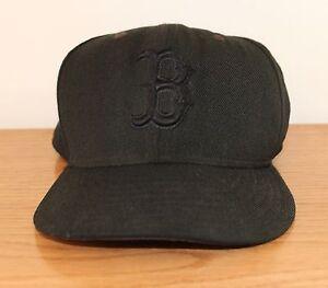 Boston-Red-Sox-Black-MLB-Baseball-Cap-59FIFTY-New-Era-Fitted-Hat-7-5-8-100-Wool