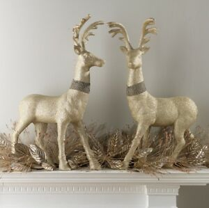 image is loading raz imports 29 034 glittered champagne rhinestone deer - Christmas Reindeer 2
