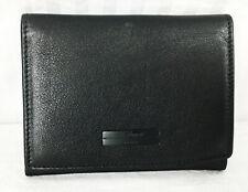 St Dupont Paris Black Leather Card Case Business Case
