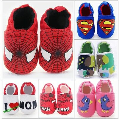 Baby Girl Boy Cotton Crib Shoes Newborn Infant Toddler Pram Soft Sole Prewalker