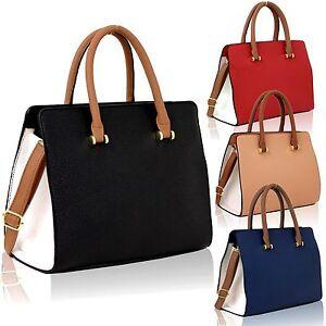 Nouveau-large-style-cuir-Femmes-Sac-en-bandouliere-Laniere-pour-femmes