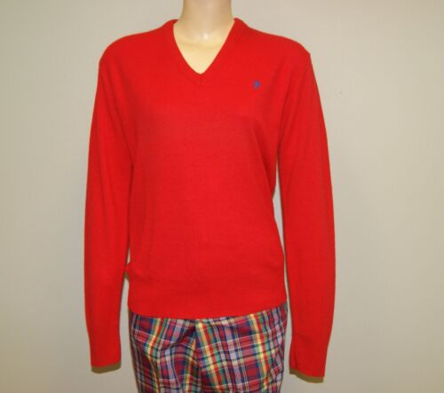 Vtg Vintage 60's 70's Mens Red Casmilon Cardigan Sweater by Bronzini Size Large
