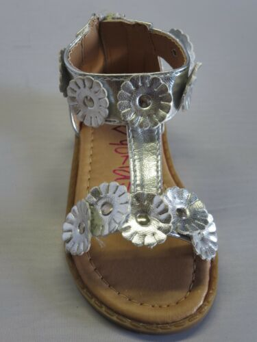TODDLER Black White Silver Pink Yokids Girl Dress Sandals Ankle Strap bellaT