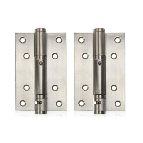 2PCS Stainless Steel Spring Door Hinge Action Hinges Saloon Home Kitchen Gate