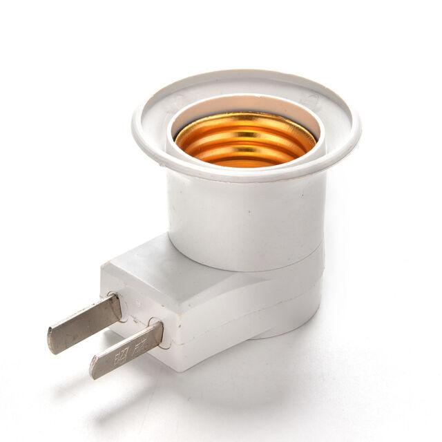 E27 LED Light Male Socket to US AU Type Plug Adapter Converter for Bulb LampRKCA