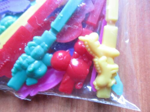 Clippy Clop Barrettes Bright Colors Plastic Animal 24 pack 1996 Goody NOS