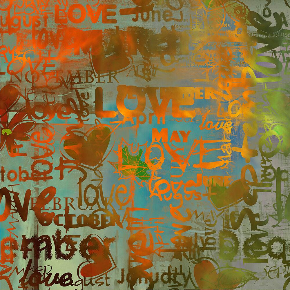 3D Aimer Graffiti 7 Photo Papier Peint en Autocollant Murale Plafond Chambre Art