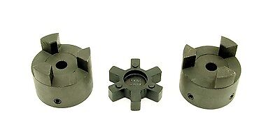 BLANK L050 Bore-To-Size Flexible 3-Piece L-Jaw Coupling Coupler Set /& NBR Spider