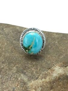 Handmade-Navajo-Indian-Sterling-Silver-Royston-Turquoise-Ring-Set-6-75-2654