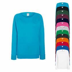 Fruit of the Loom Damen Pullover Sweatshirt LIGHTWEIGHT RAGLAN SWEAT Neu F315