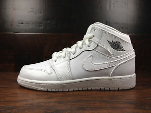 outlet store 321f9 37c26 Image is loading Air-Jordan-1-Mid-Retro-White-Cool-Grey-