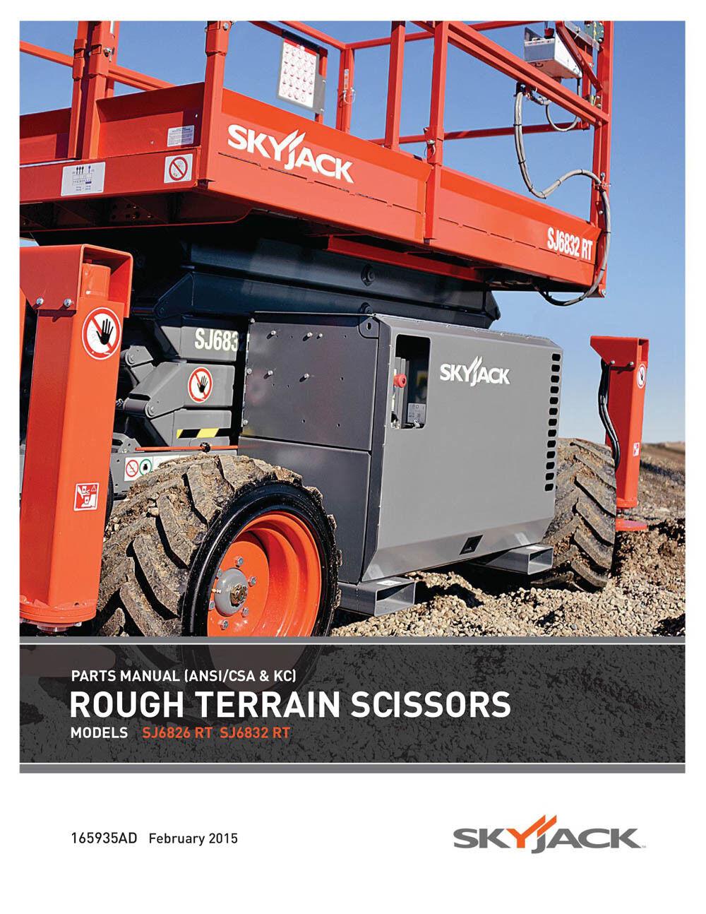 skyjack sj6826rt sj6832rt parts manual rough terrain scissors 165935ad Skyjack SJIII 3220 Scissor Lift Wiring Diagram