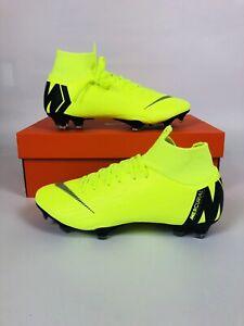 d3f9d4339e9 Nike Mercurial Superfly 6 Pro FG MG Soccer Cleats Volt Black AH7368 ...