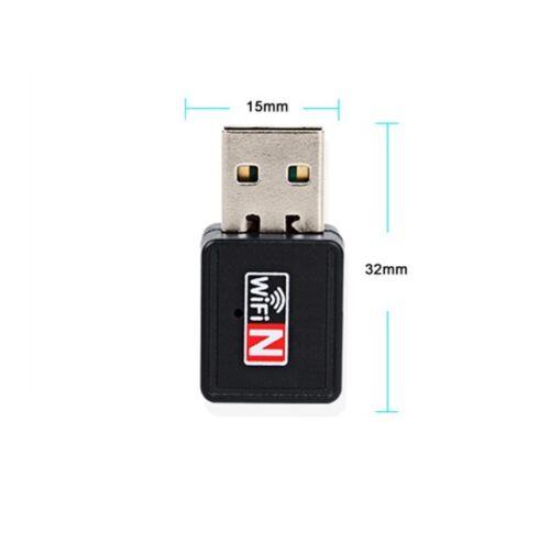 Mini 150Mbps USB WiFi Wireless Adapter Dongle LAN Card 802.11n//g//b w//Antenna NEW