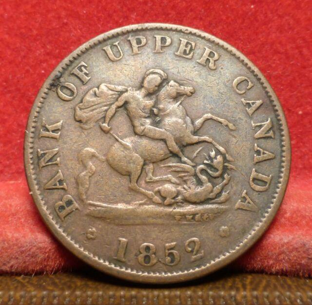 1852 Bank of Upper Canada Half Penny Token PC - 5B2 Coin Mode