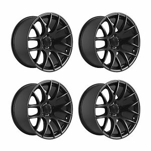 4-x-3SDM-0-01-Matt-Black-Alloy-Wheels-5x112-18x8-5-034-ET45