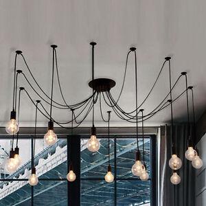 Edison Bulb Multi Light Industrial Chandelier Pendant Lights DIY ...