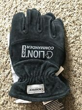 Lion Commander Ace Structural Firefighting Gauntlet Leather Gloves Black Sz Xs