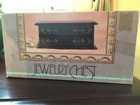 Ladies' Matte Black Jewelry Chest In Unsealed Box 10.5x5.5x4.25 Kmart