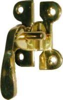 Left Hand Flush Mount Mcdougall Latch - Polished Brass - Hoosier Sellers Ant...