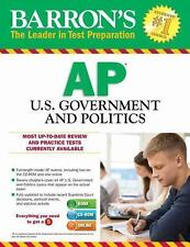 BARRON'S AP U.S. GOVERNMENT AND POLITICS + CD-ROM - LADER, CURT, M.A. - NEW BOOK