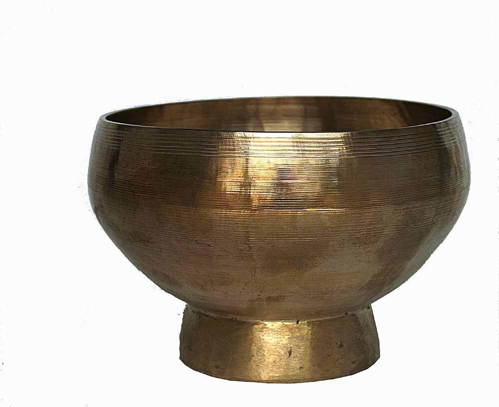 Stand Klangschale Singing Bowl Planetenton Saturn Meditation Hörprobe 397g M66A