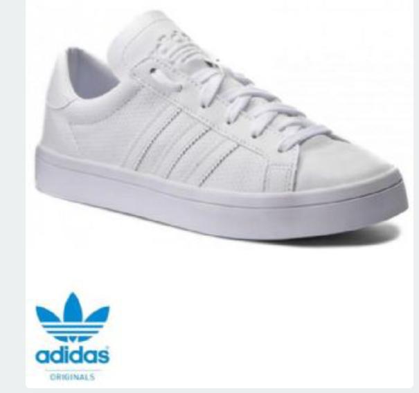 Adult adidas court vantage trainers