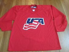 VINTAGE NEW TEAM NIKE USA HOCKEY RED PRACTICE JERSEY SIZE L