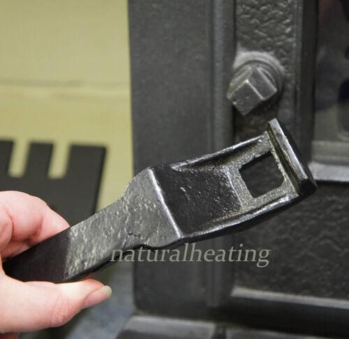 Repuesto De Hierro Fundido Universal Estufa Manija De Puerta clave woodburner levantamiento herramienta Piezas