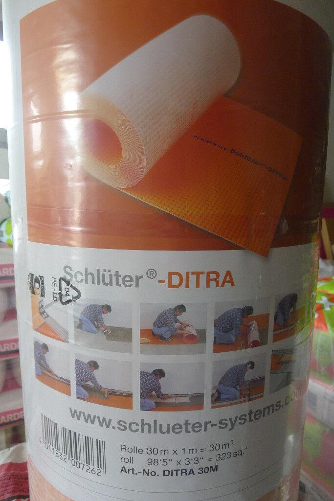 15 qm Schlüter Ditra Entkopplungsmatte pro m² 10,80Euro