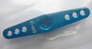 Aluminium servo full arm for FUTABA servo with M3 holes (Blue)