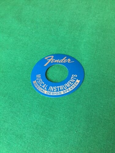 """/""""FREE SHIP/"""" REPLACEMENT BLUE AND 2-1//2/"""" SPEAKER DECAL 4 A VINTAGE FENDER SPEAKER"""