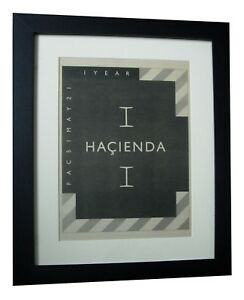 HACIENDA-1st-BIRTHDAY-FACTORY-POSTER-AD-ORIGINAL-1983-FRAMED-EXPRESS-GLOBAL-SHIP