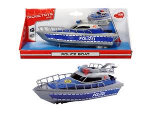 Dickie Toys 203714004 - Police Boat / Polizei Boat (Batteriebetri<wbr/>eben) - Neu