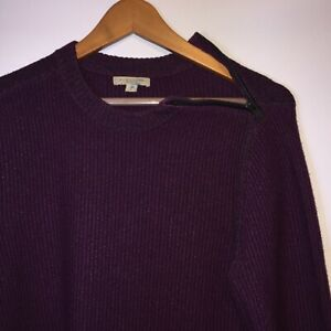 Burberry-Brit-homme-Pull-Fermeture-Eclair-Epaule-Pull-Bordeaux-Pull-Over-Taille-M