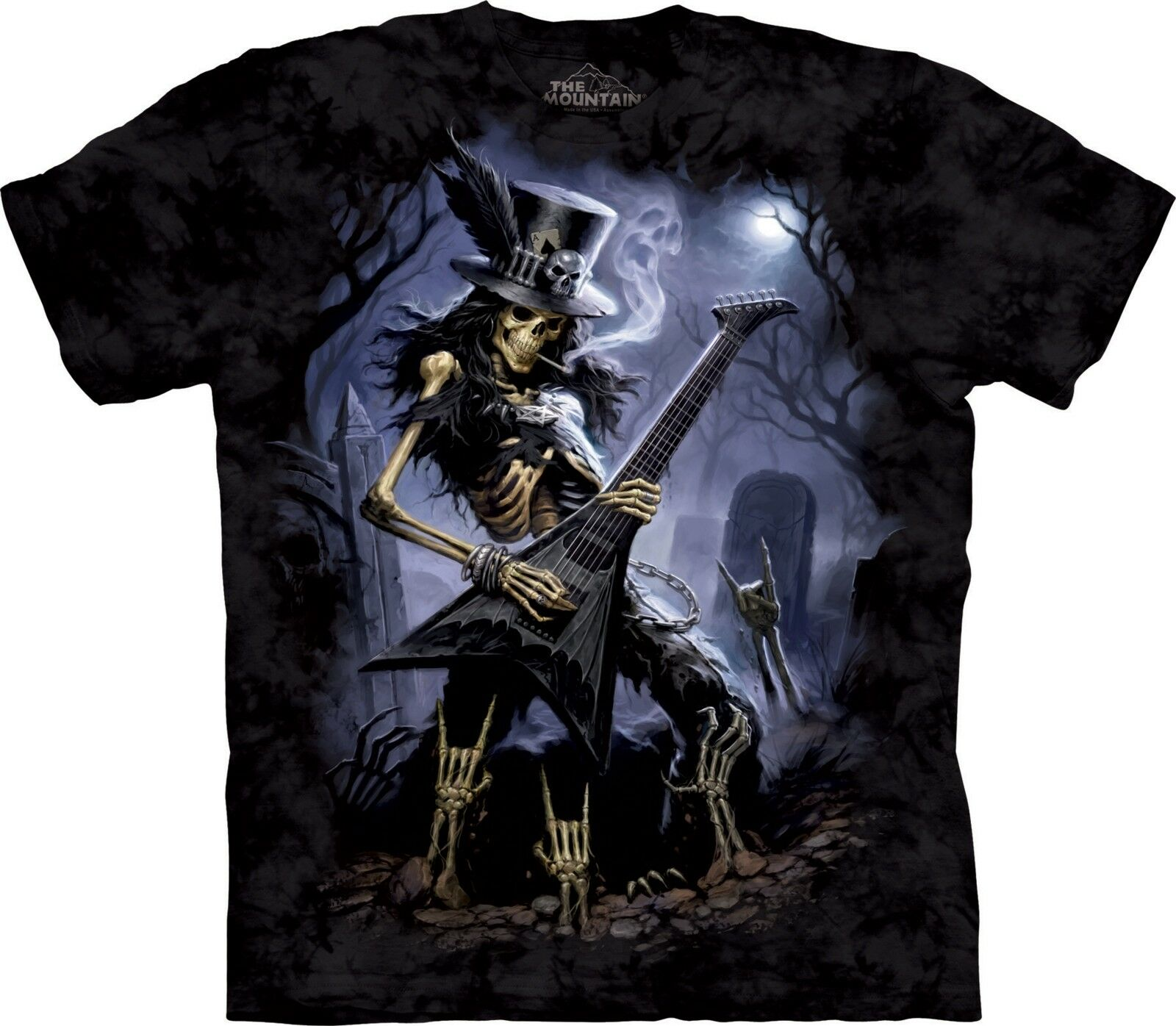 Play Dead Fantasy T Shirt Adult Unisex The Mountain Skulbone