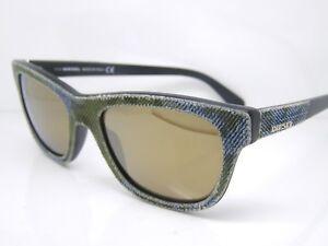 ee4f1682513 Stunning Diesel Sunglasses DL0111 S 98G Blue Green Denim Authentic ...