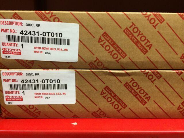 TOYOTA OEM 09-15 Venza Rear Brake-Rotor 424310T010