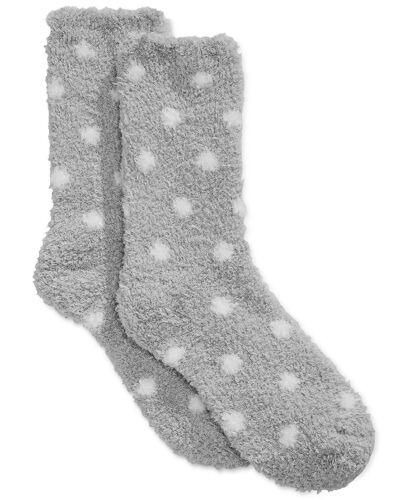 Charter Club Women/'s Super Soft Fluffy Socks 2 Pairs 2 Designs NWT