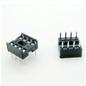 40x-8-pines-DIP8-integrado-circuito-IC-Sockets-tipo-soldadura-adaptadH4