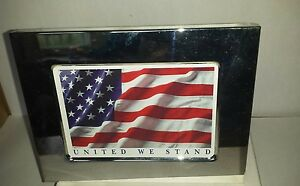 Commemorative-Silver-Plated-Frame-USA-Patriot-Flag-FREE-SHIPPING-CAN-USA