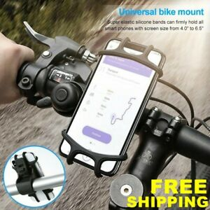 Silicone Motorcycle Bicycle Black Holder Mount Handlebar GPS Cell Phone 4-6/' US